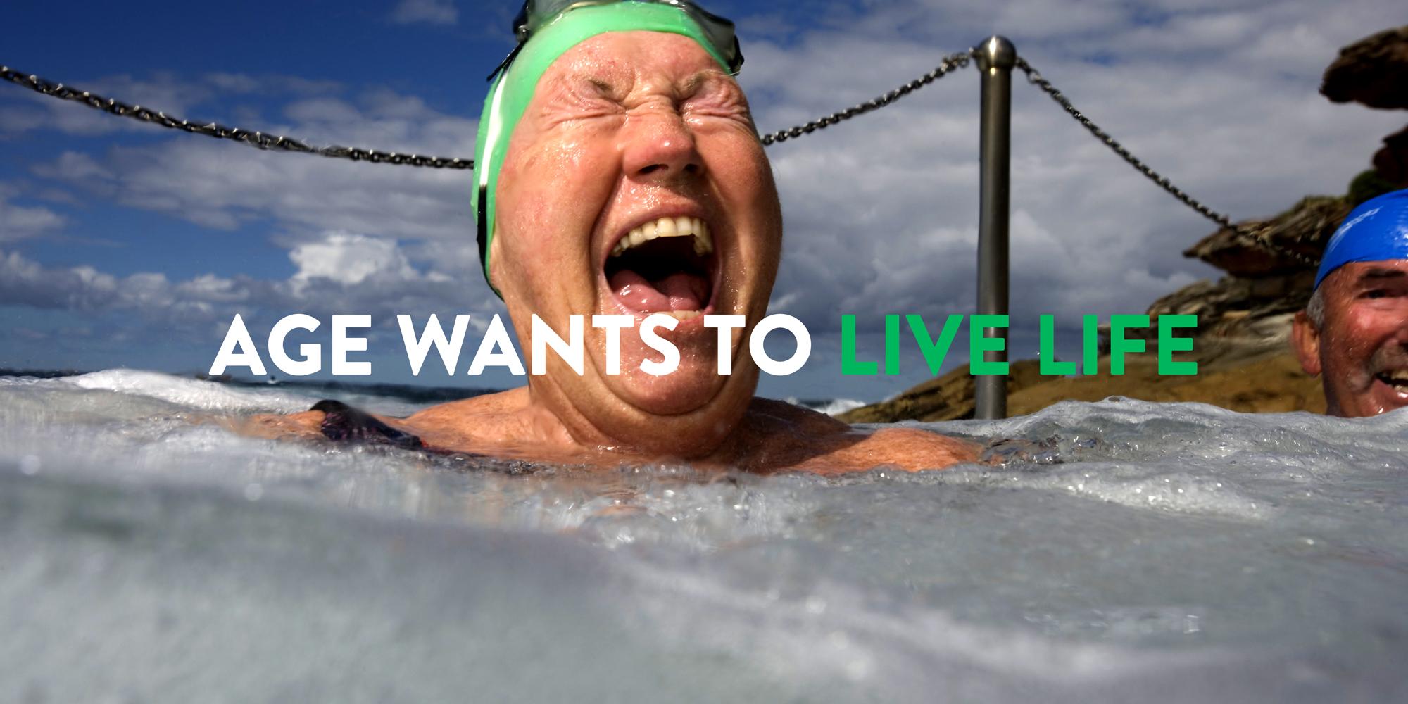swimmer, elderly swimmer