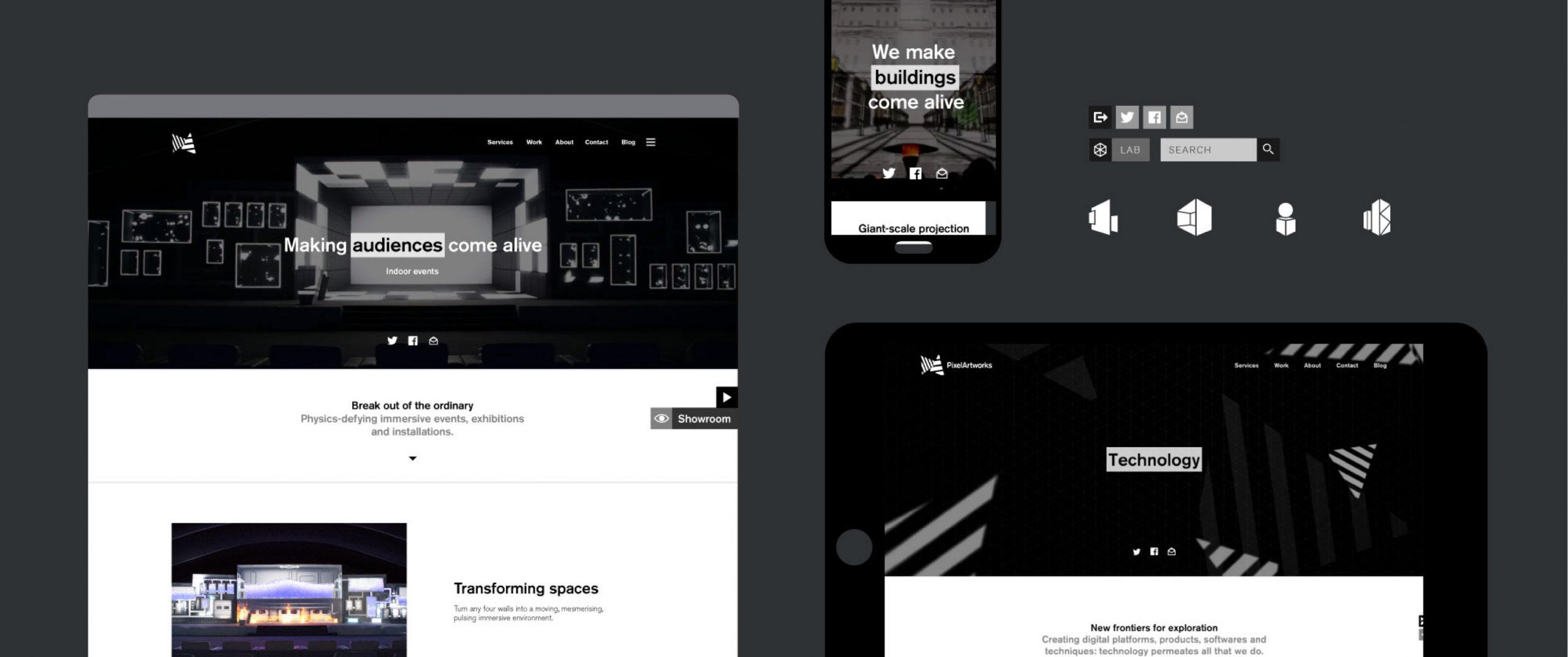 Pixel, website, overview