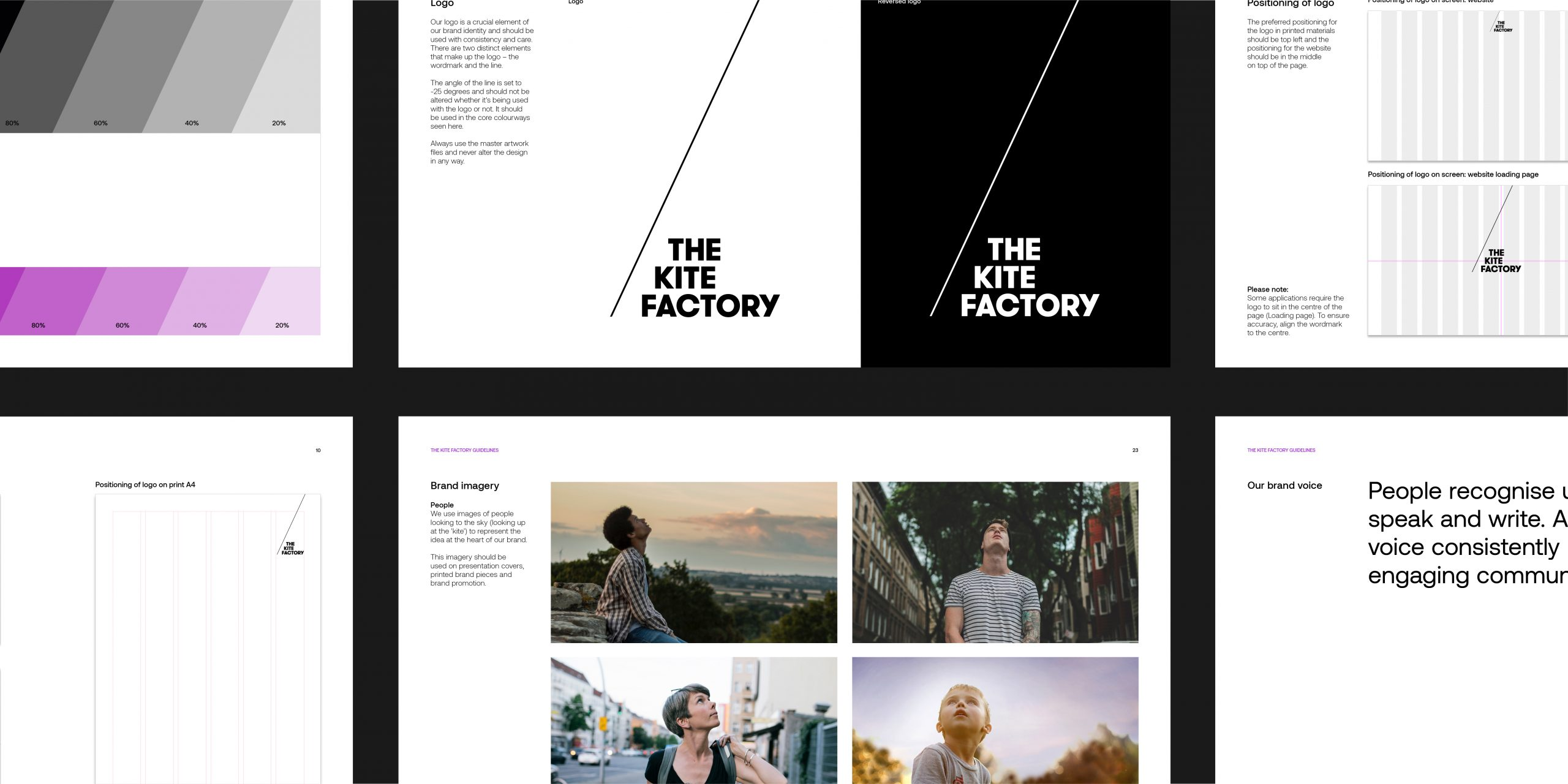 the kite factory, brand guidelines